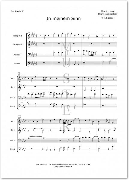 ISAAC, Heinrich - In meinem Sinn (2 Trompeten 2 Posaunen)