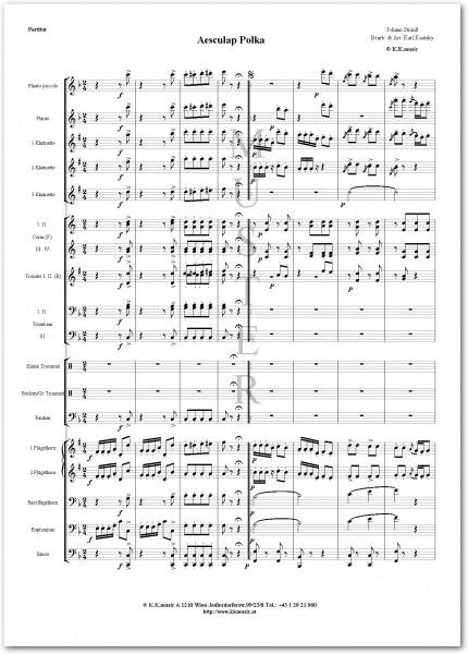 STRAUSS, Johann - Aesculap Polka (Blasmusik)