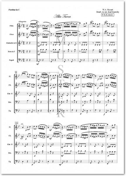 MOZART, Wolfgang Amadeus - Alla Turca (Holzbläser Quintett)