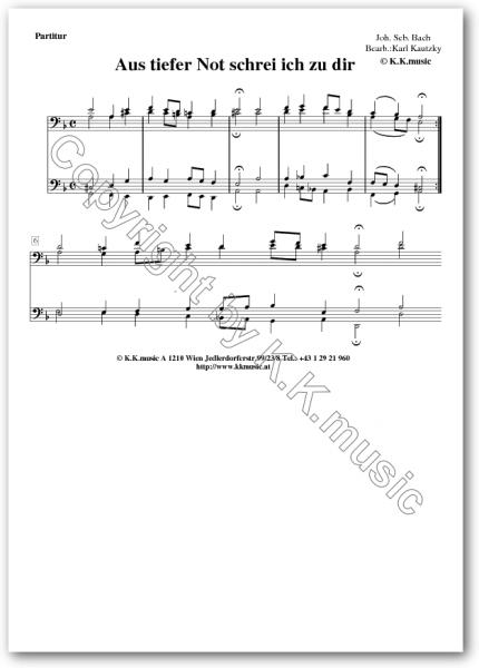 BACH, Johann Sebastian - Aus tiefer Not schrei ich zu dir