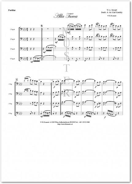 MOZART, Wolfgang Amadeus - Alla Turca (Fagottquartett)
