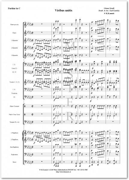 STRAUSS, Johann - Viribus Unitis (Blasmusik)