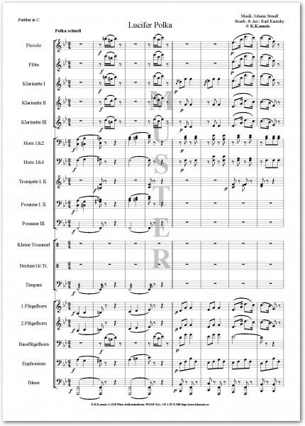 STRAUSS, Johann - Luzifer Polka (Blasmusik)