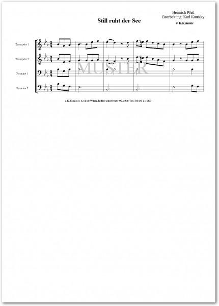 PFEIL, Heinrich - Still ruht der See (2 Trompeten 2 Posaunen)
