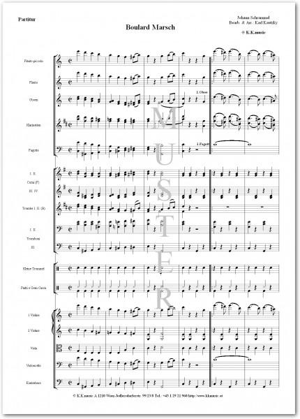 SCHRAMMEL, Johann - Boulard Marsch (Orchester)