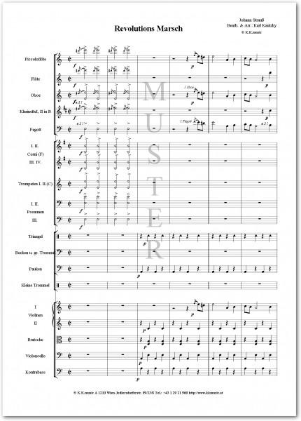 STRAUSS, Johann - Revolutions Marsch (Orchester)