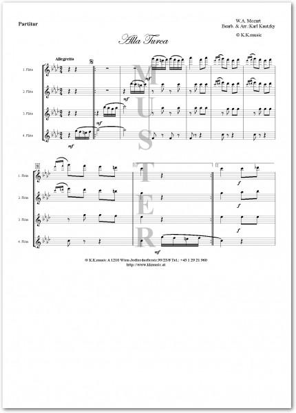 MOZART, Wolfgang Amadeus - Alla Turca (Flötenquartett)