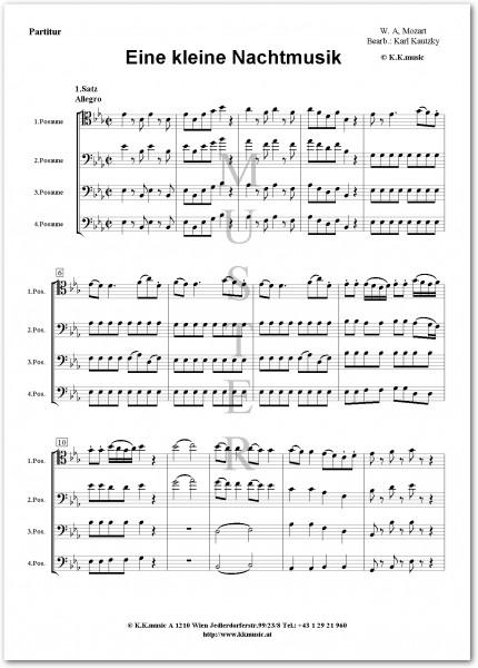 MOZART, Wolfgang Amadeus - Eine kleine Nachtmusik (Posaunenquartett)