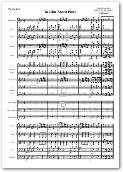 STRAUSS, Johann Vater - Beliebte Annen Polka (Orchester)